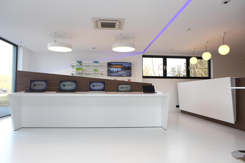 datalink inrichting showroom
