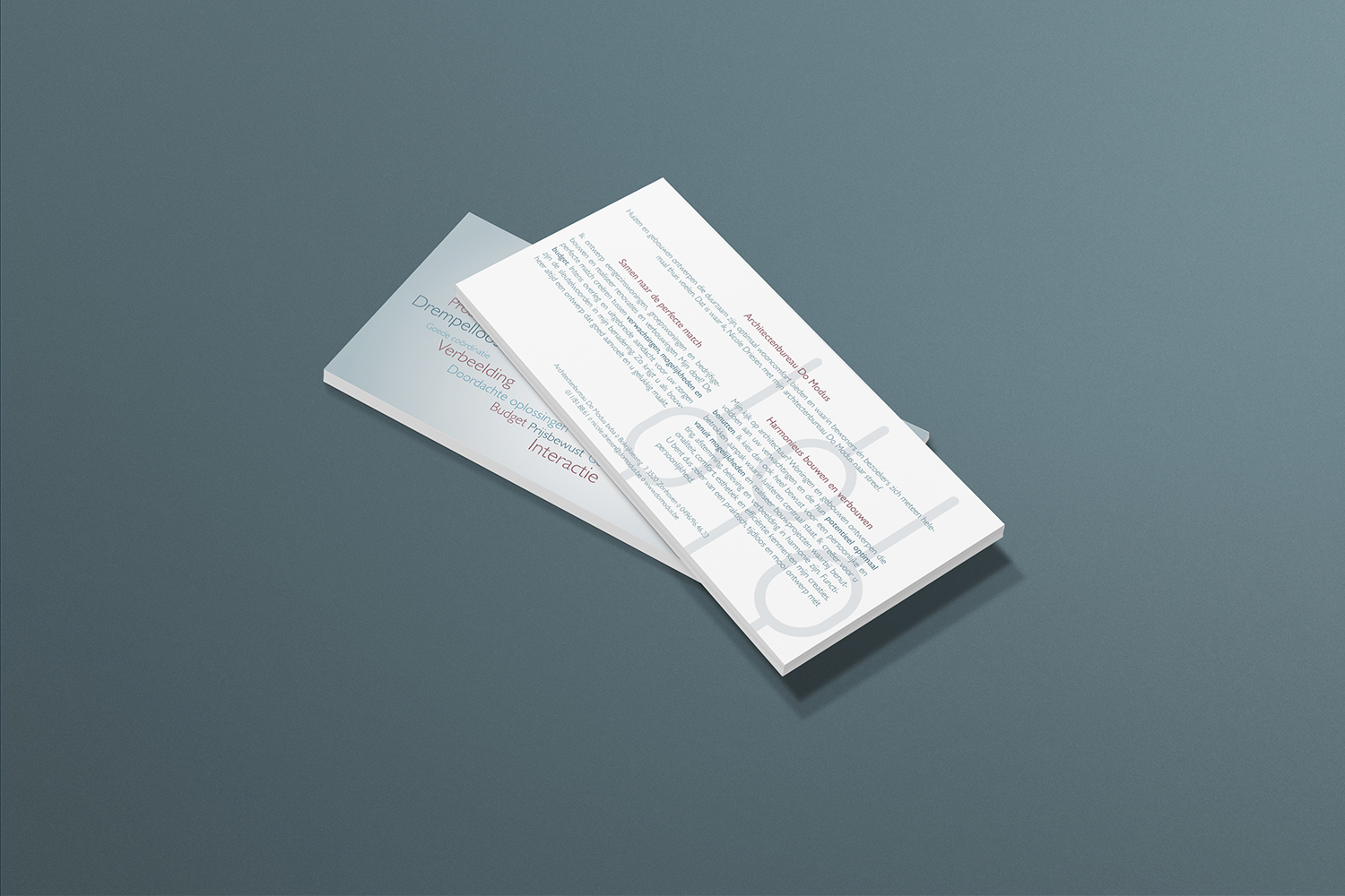 Do Modus architectenbureau folder ontwerp