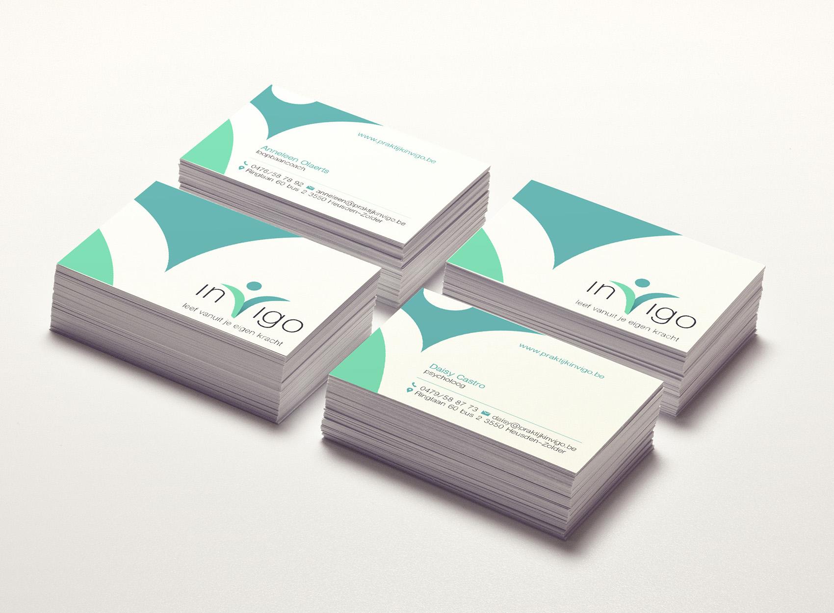 ontwerp visitekaarten indigo