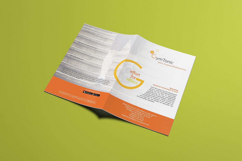 brochure ontwerp GymTonic