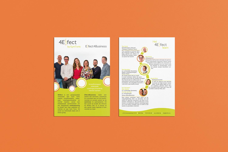 ontwerp flyer 4Effect