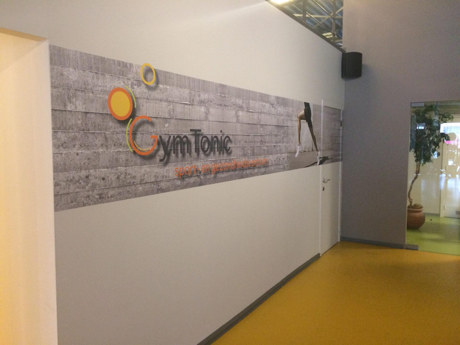 GymTonic bestickering binnen