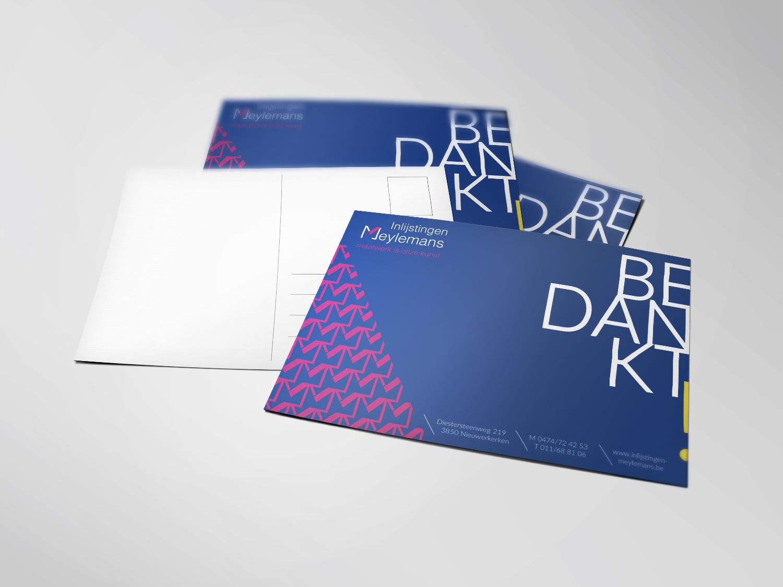 meylemans-bedankkaart ontwerp