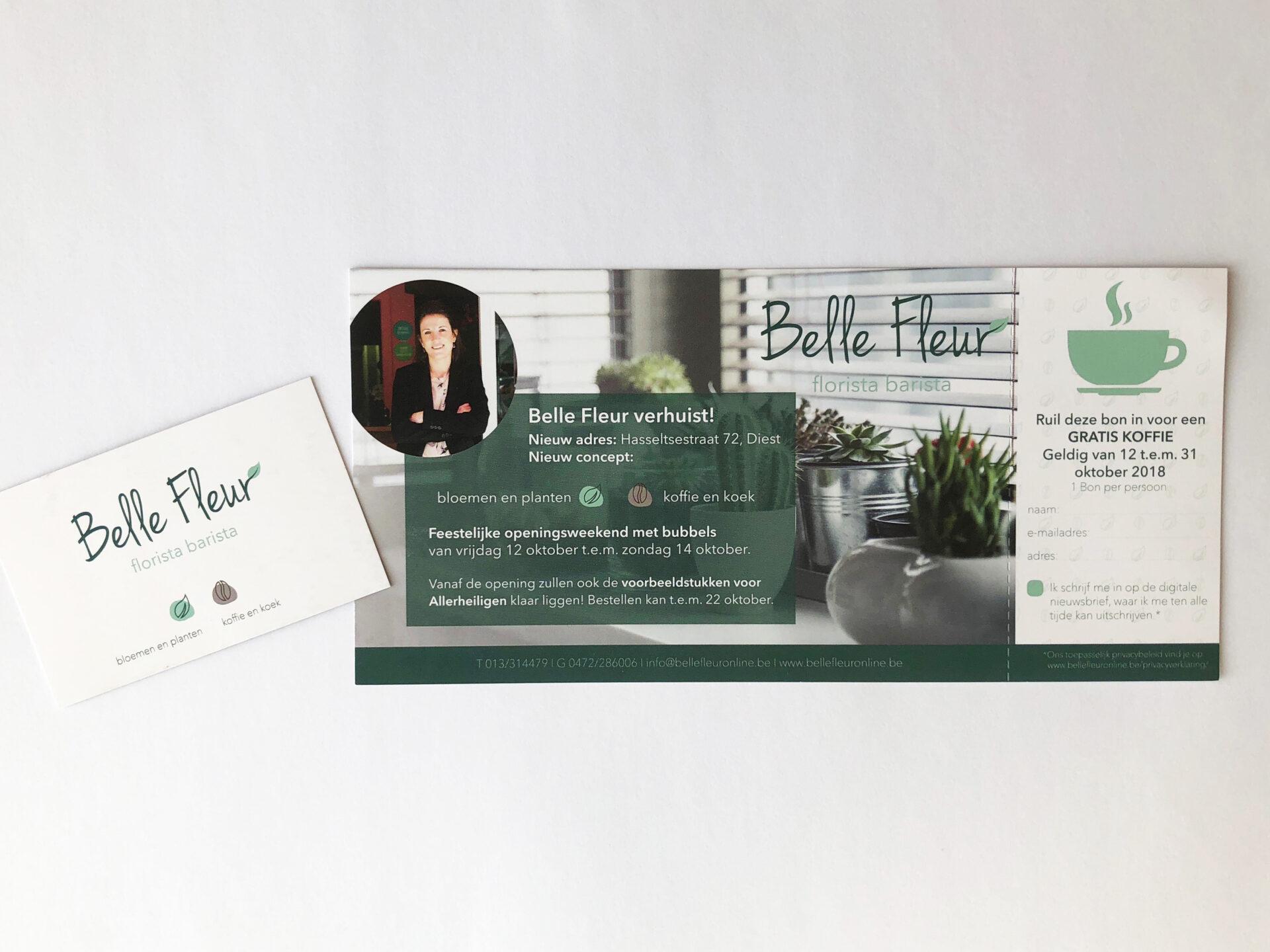huisstijl ontwerp flyer visitekaart