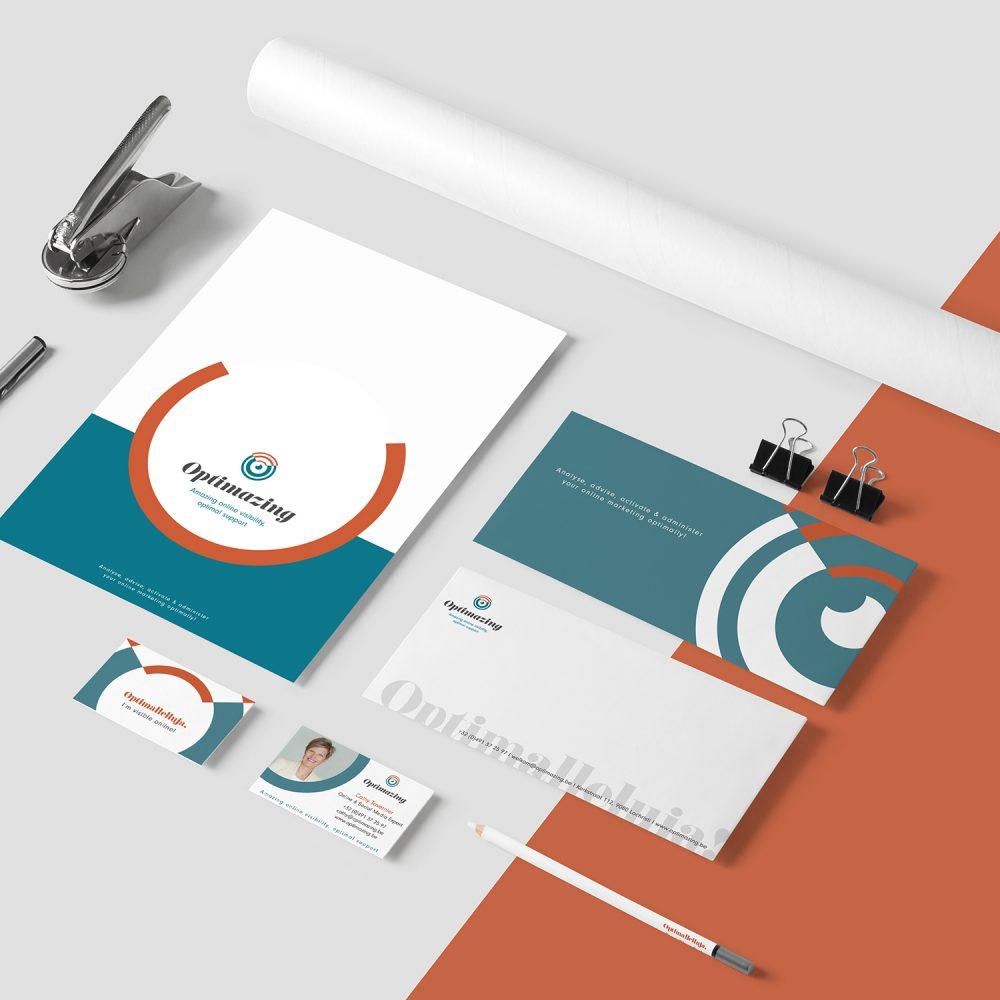 Nieuw logo en huisstijl voor Optimazing online marketing