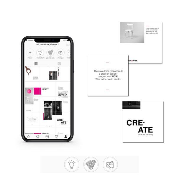 instagram puzzel ontwerp