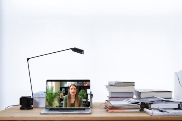 professionele achtergrond voor skype, zoom