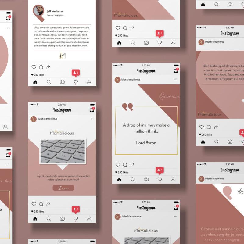 ontwerpen templates social media